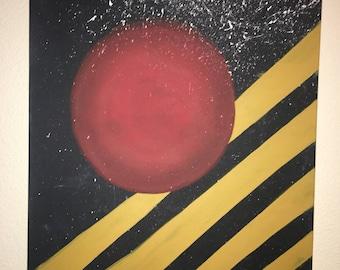 CenteRED 24x30 acrylic on canvas