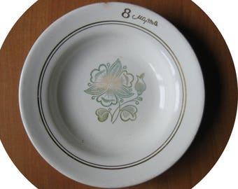 Vintage Soviet Porcelain Plate March 8