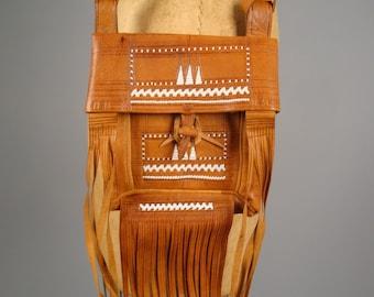 Bohemian Handmade Moroccan Leather and Fringe Hand Bag