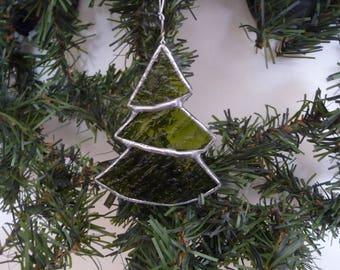 Stained glass Christmas tree shaped Decoration
