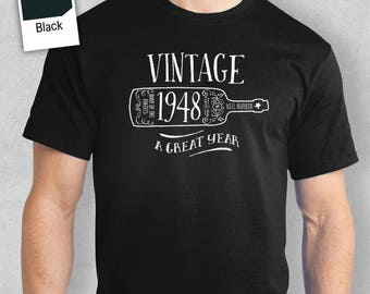 70th Birthday, 70th Birthday Idea, Great 70th Birthday Present, 70th Birthday Gift. 1948 Birthday, 70th Birthday Shirt For a 70 Year Old!