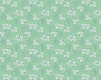 1 Yard Little Dolly by Elea Lutz for Penny Rose Fabrics 6364 green Flowers