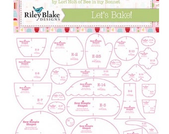Bake Sale 2 Let's Bake Templates by Lori Holt of Bee in My Bonnet for Riley Blake Designs