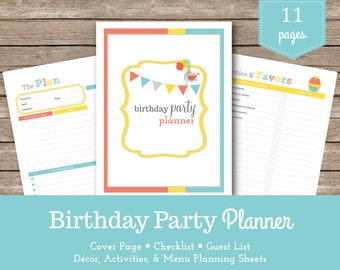 Birthday Party Planner / Party Planner/ Birthday Party Checklist /  Party Checklist / Kids Birthday / Party Printable / Party Organizer