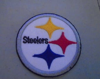 A  Pittsburgh Steelers 3 inch embroidered patches Great sizes  for hats old stock glue or sew in