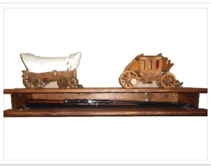 Wooden Fireplace Mantle Shelf Hidden Compartment