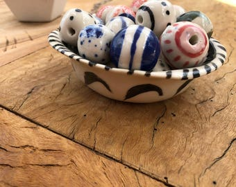 Porcelain Handcrafted Beads