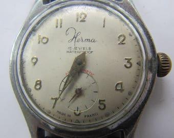 Vintage watches HERMA France antimagnetic