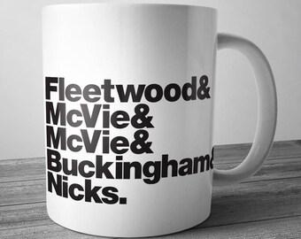 Fleetwood Mac Rock Band Mug