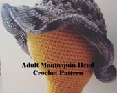 Mannequin Head, Crochet Pattern, Adult Head Pattern, Adult Model Head, Craft Show Prop, How to Make It, Adult Mannequin, Crochet Head