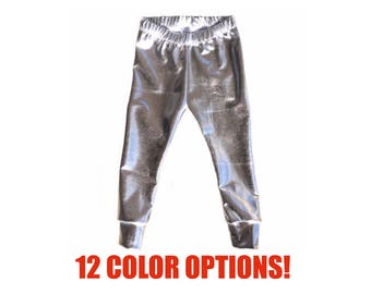 Metallic Leggings (Newborn Leggings, Infant Leggings, Baby Leggings, Toddler Leggings, Girls Leggings, Kids Leggings, Womens Leggings)