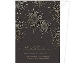 Fireworks / New Year's Party / Birthday Invitation / Happy New Year / Ring In The New Year / Sparklers / 4th of July