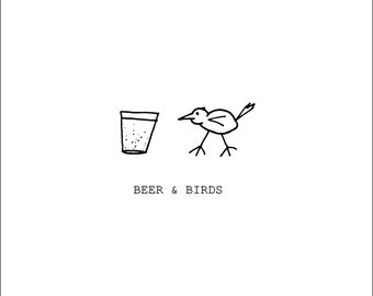 Felltarn Friends Greetings Card: Done. by Amy. - Beer & Birds