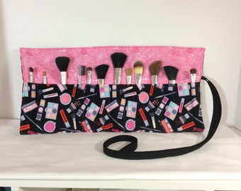 Cosmetic Roll-Up Brush Roll