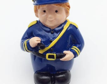 Policeman Drawer Knob or Pull for Nursery or Kids Room Furniture, Folding Doors or cabinets.