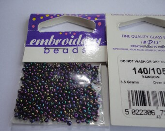 seed fine embroidery (105) 2mm iridescent purple