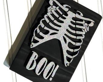 Halloween, halloween sign, skeleton, trick or treat, laser cut, handpainted, wood sign, halloween decor