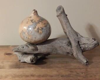 Natural Gourd and Driftwood Art