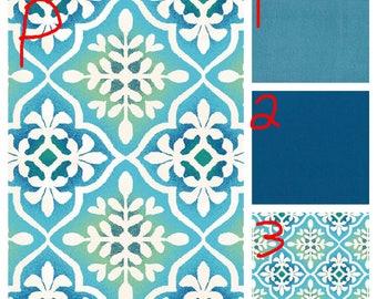 Blue Tile - Teen/Adult Fleece Weighted Blanket
