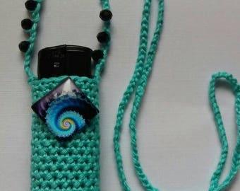 Sea of fractals: handmade crochet lightercozy.