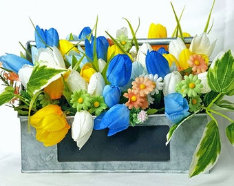 spring arrangement, summer table arrangement, floral arrangement, floral centerpiece,