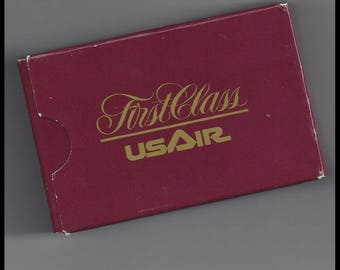 US Air Vintage Airline First Class Playing Cards