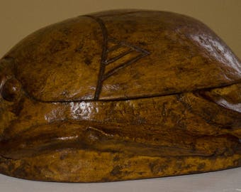 Scarab Egyptian creation in papier mache