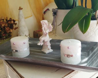 All candles and revamped wooden shabby collection the breath of Angel