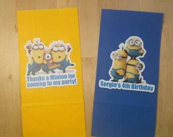 Minions theme favor bags set of 12