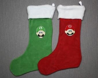 Super Mario Bros. Christmas Stockings - Mario, Luigi