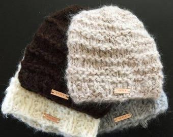 PELISHA Brushed Alpaca Merino Blend Beanie Hat