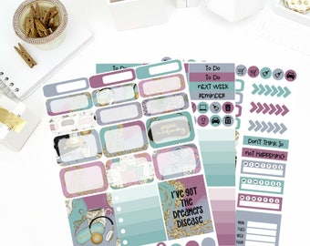Staycation Weekly Kit Stickers! Perfect for your Erin Condren Life Planner, calendar, Paper Plum, Filofax!