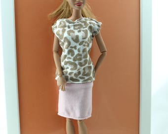 Free shipping! Barbie clothes - suit, NO VELCRO, stretch.