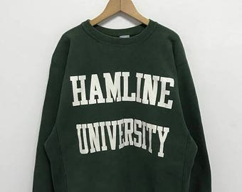 20% OFF Vintage Champion Hamline University Sweatshirt/Champion Sweater/Champion Clothing/Champion Spellout