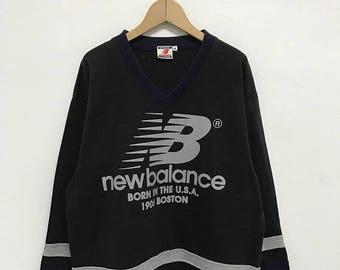 20% OFF Vintage New Balance Pullover Sweater/New Balance Sportwear/New Balance sweatshirt/New Balance Bog Logo