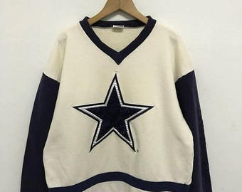 20% OFF Vintage Cowboys Dallas Pullover/Cowboys Dallas Sweatshirt/Amarican Football Clothing/NFL Shirt