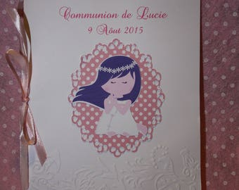 Mass for communion or baptism (cover and text) custom booklet