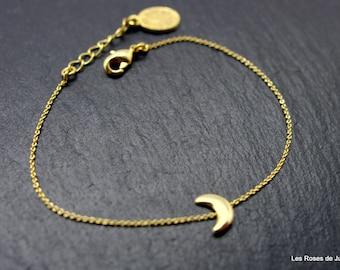 Bracelet mini Moon gold plated