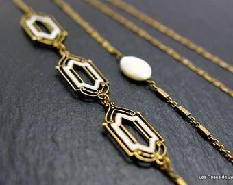Art deco Neva necklace, art deco long necklace