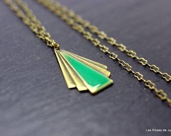 Art deco pendant, pendant, necklace