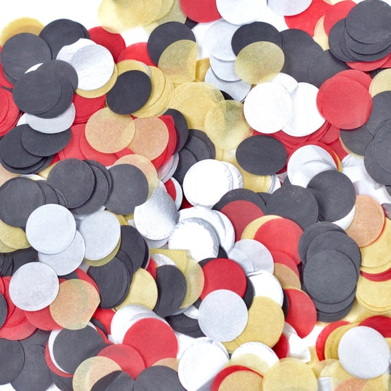 Lumberjack Confetti, Red Black Beige Confetti, Shred, Table Decor, Confetti Balloon, First Birthday Boy Baby Shower Woodland Rustic Woodsy