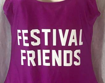 FESTIVAL FRIENDS Fuchsia Women's Bathing Suit Swimsuit One Piece Tankini Body Swim Wear Pool Party Open Back Concert Club Bodysuit