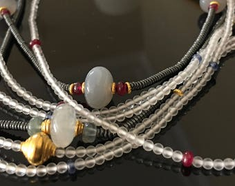 Necklace of Rock Crystal and Rubies