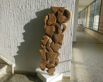 Abstract wood relief  from cycle of growth