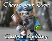 Custom Inkling Boy Splatoon Amiibo | Complete Outfit Remodel