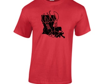 Crawfish T shirt New Orleans Louisiana T shirt Distressed