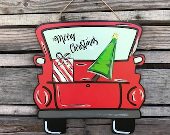 Welcome Fall Sale Christmas Door Hanger, Merry Christmas, Christmas Truck, Door Hanger, Wooden Door Hanger, Christmas Door Sign, Christmas D