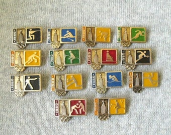 20% Off Sale 22nd Olympic Games Pins, Sports Collectible, Summer Olympic, Rare Pins, Badges for Collection