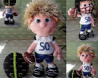 Footballer Elf Boy PATTERN crochet amigurumi