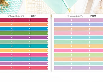 Skinny Flags Stickers, Skinny Flags Planner Stickers  – Sticker Sale, Sized for the Erin Condren – 3871